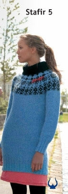 Icelandic sweaters and products - Stafir Blue - knitting kit Wool Knitting Kit - NordicStore