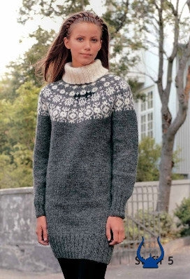 Icelandic sweaters and products - Stafir Grey - knitting kit Wool Knitting Kit - NordicStore