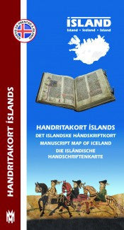 Icelandic sweaters and products - Manuscript Map of Iceland Maps - NordicStore
