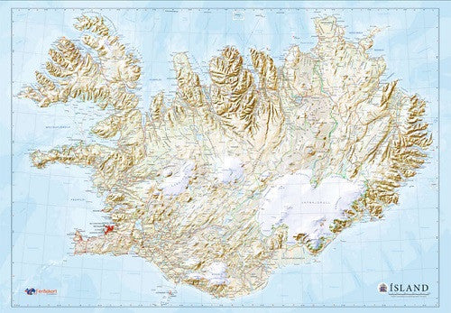 - Icelandic Map of Iceland - Jigsaw Puzzle (2000pcs) - Puzzle - Nordic Store Icelandic Wool Sweaters