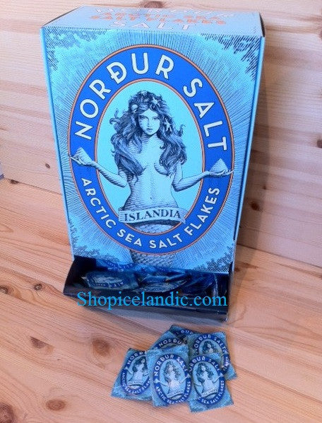 - Icelandic Nordur Salt - Flaky Sea Salt Sachets (450pcs) - Food - Nordic Store Icelandic Wool Sweaters
