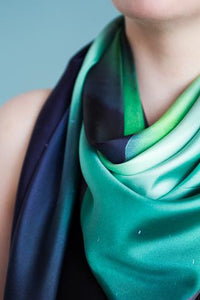 Icelandic sweaters and products - The Northern Lights Silk Scarf Silk scarves - NordicStore