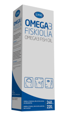 Icelandic sweaters and products - Lysi Omega 3 Fish oil (240 ml.) Cod Liver Oil - NordicStore
