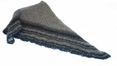 - Icelandic Ladies Wool Shawl Grey and Black - Wool Accessories - Nordic Store Icelandic Wool Sweaters  - 1
