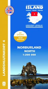- Icelandic Regional Map 4  - North 1:200.000 - Maps - Nordic Store Icelandic Wool Sweaters