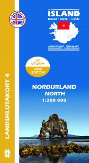 Icelandic sweaters and products - Regional Map 4  - North 1:200.000 Maps - NordicStore