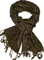 Golden green scarf