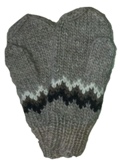 Wool Mittens - Brown