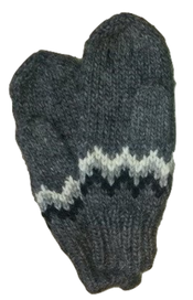 Wool Mittens - Grey