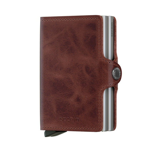 Icelandic sweaters and products - Twinwallet: Vintage Brown Wallet - NordicStore