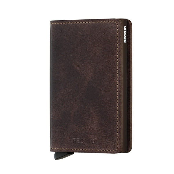 Icelandic sweaters and products - Slimwallet: Vintage Chocolate Wallet - NordicStore
