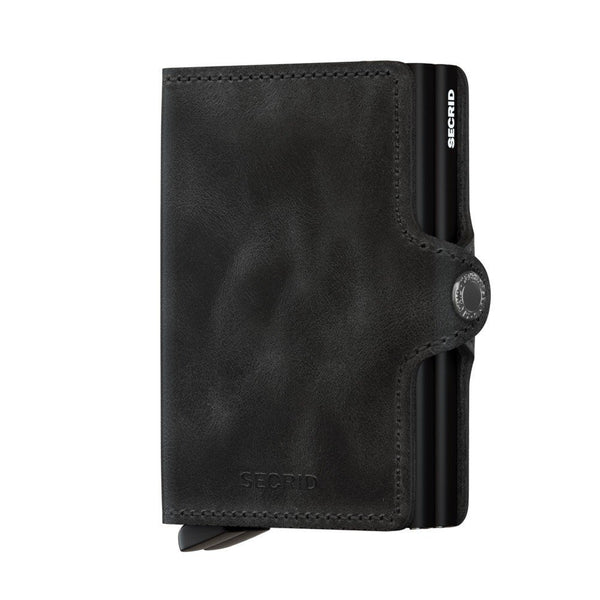 Icelandic sweaters and products - Twinwallet: Vintage Black Wallet - NordicStore