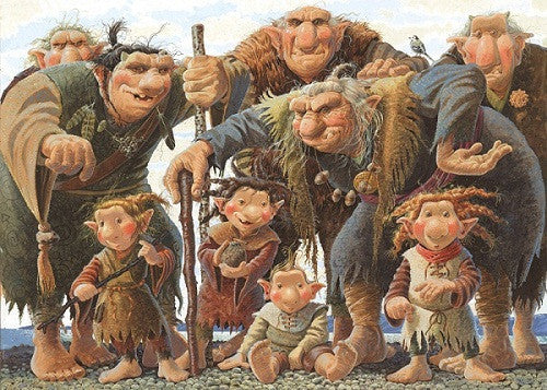 Icelandic sweaters and products - Troll family - Jigsaw Puzzle (1000pcs) Puzzle - NordicStore