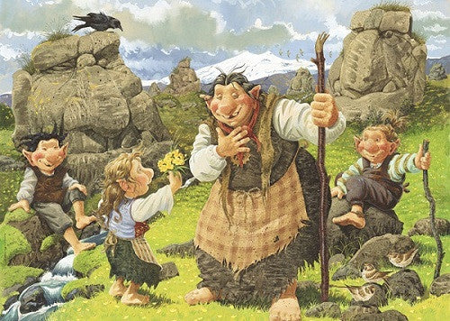 - Icelandic Troll mother with children - Jigsaw Puzzle (500pcs) - Puzzle - Nordic Store Icelandic Wool Sweaters