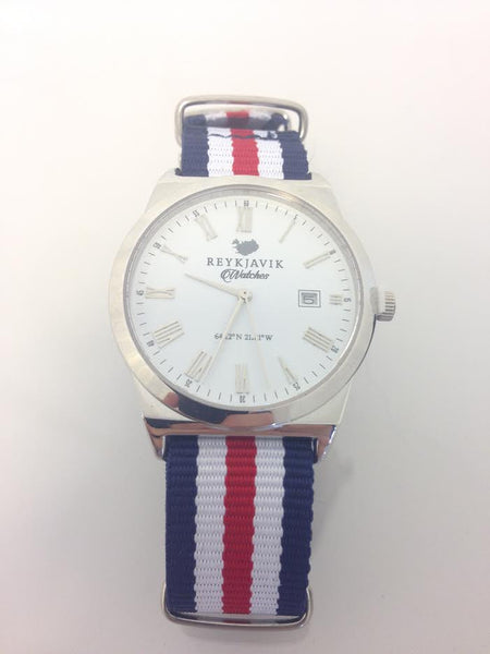 - Icelandic Strap in Icelandic Flag Colors - Watch - Nordic Store Icelandic Wool Sweaters  - 1