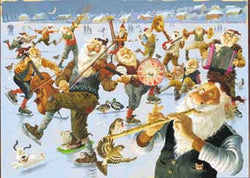 Icelandic sweaters and products - Yule Lads Band - Poster Poster - NordicStore