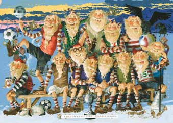 - Icelandic Yule Lads Football - Poster - Poster - Nordic Store Icelandic Wool Sweaters