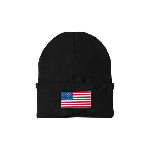American Flag One Size Fits Most Knit Cap