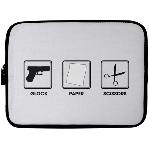 Glock Paper Scissors Laptop Sleeve - 10 inch