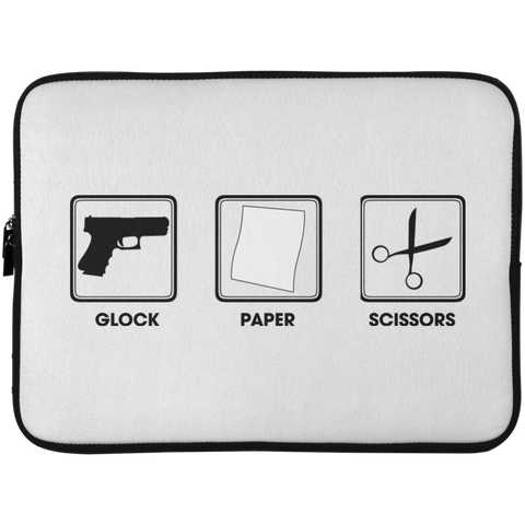 Glock Paper Scissors Laptop Sleeve - 15 Inch