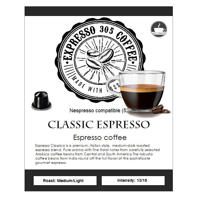 Nespresso capsules pods compatible FRESHLY ROASTED crafted gourmet coffee CLASSIC