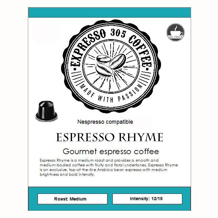 60 Nespresso capsules pods compatible FRESHLY ROASTED Espresso coffee 10each