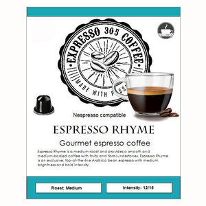 Nespresso capsules pods compatible FRESHLY ROASTED cratfed gourmet coffee RHYME