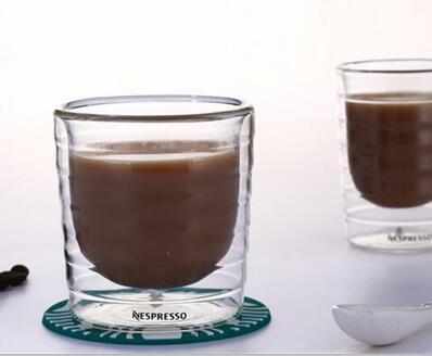 Coffee Cup Caneca 6pcs/lot  Hand Blown Double Wall Whey Protein Canecas Nespresso Coffee espresso 85ml 150ml Thermal Cup
