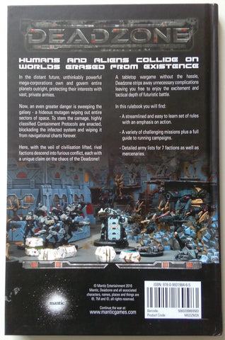 Deadzone 2nd Edition Rulebook Back