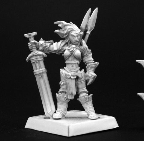 Amiri, Iconic Female Human Barbarian - Reaper Miniatures Pathfinder 60003