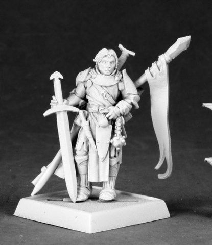 Alain, Iconic Cavalier - Reaper Miniatures Pathfinder 60045