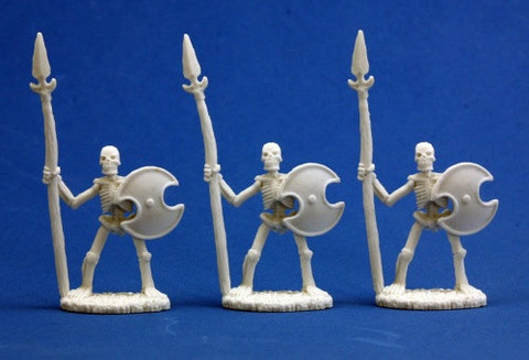Skeletal Spearmen (3) - Reaper Miniatures Bones