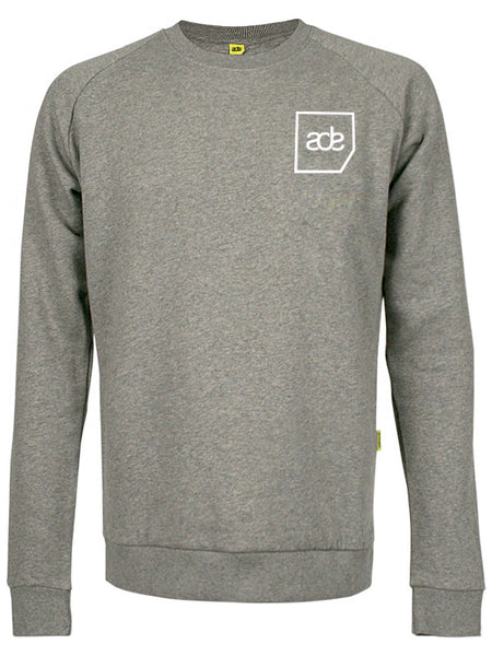 ADE Unisex Sweater Logo White on Grey