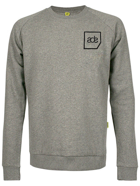 ADE Unisex Sweater Logo Black on Grey