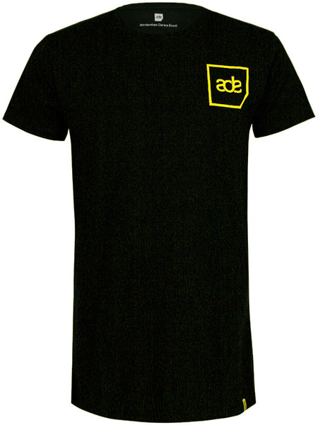 ADE Unisex T-Shirt Logo Yellow on Black