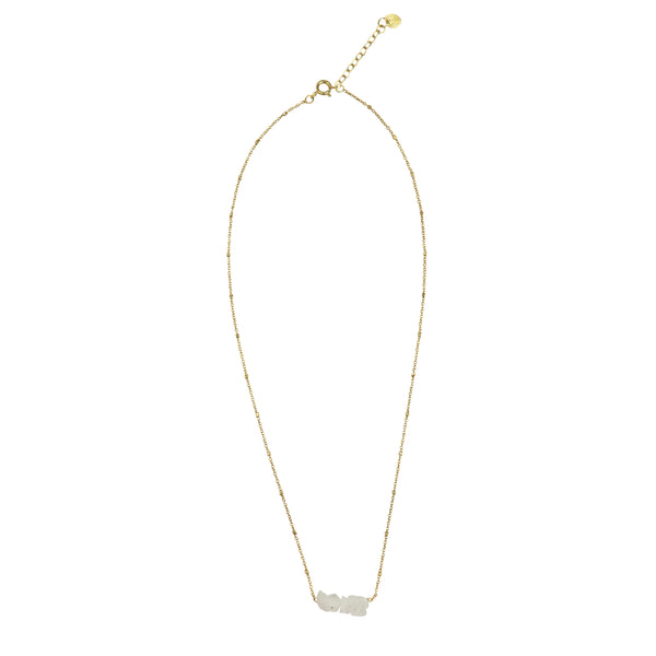 Shine Moonstone gold necklace
