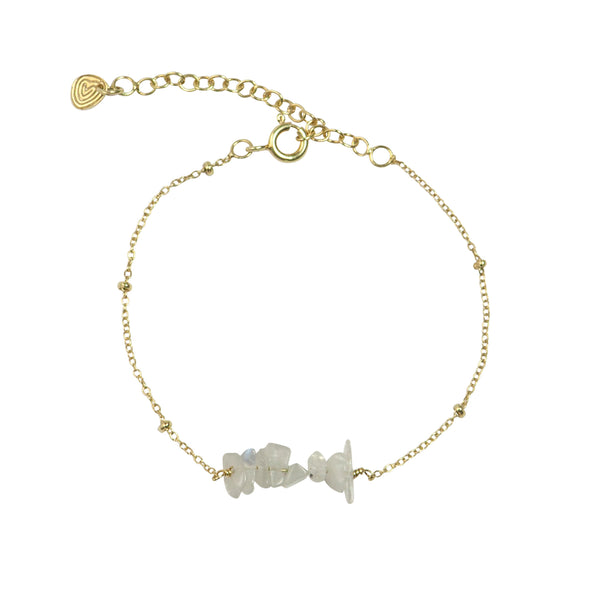 Shine Moonstone gold bracelet