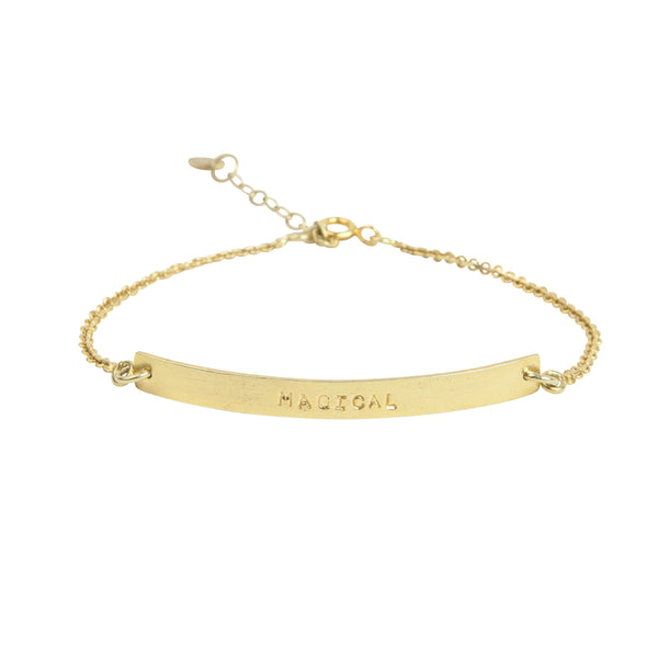 Flow Magical gold bracelet