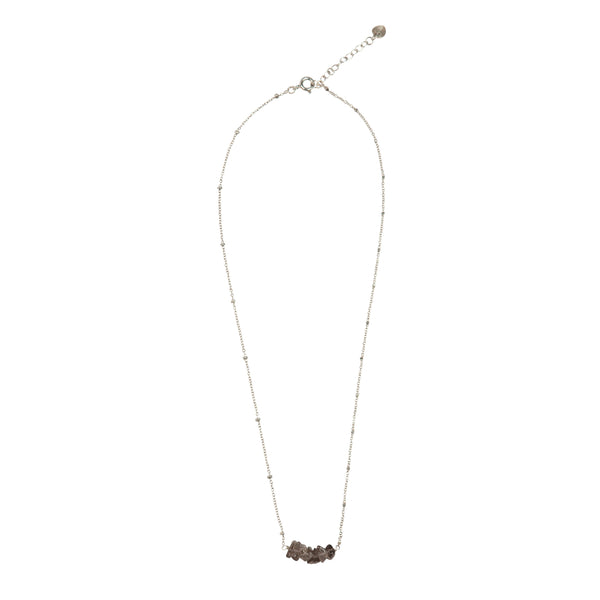 Shine Smokey Quartz silver necklace