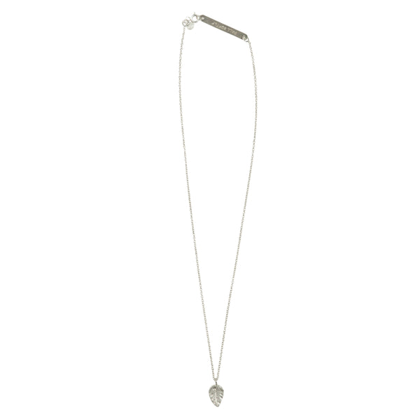 Flow leaf silver necklace