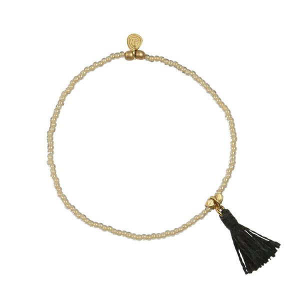 Lilly black gold bracelet