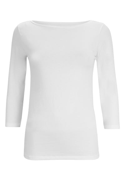 3/4 Sleeve Bright White Essentials