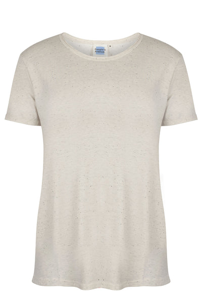 Structured Round Neck Cotton White T-Shirt