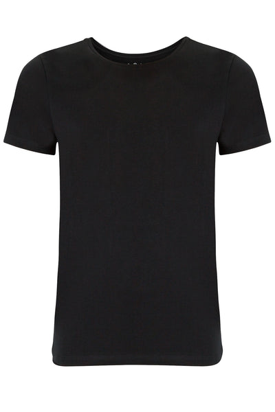 Round Neck Essentials Black