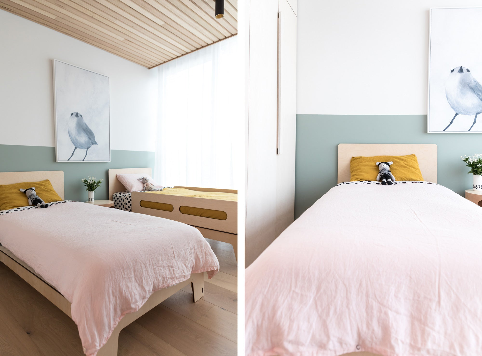 Image of The Singolo Single Bed and Sleigh Bed by Plyroom styled by Hide and Sleep