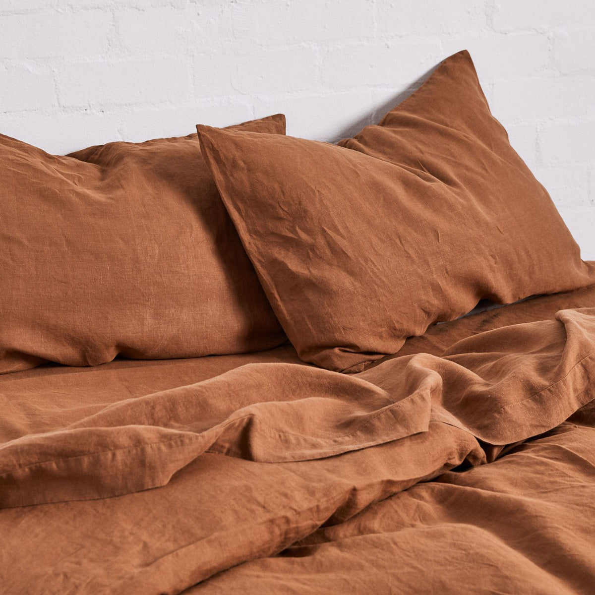 In Bed Store We Are Triibe Linen at Plyroom in Tobacco and Rust