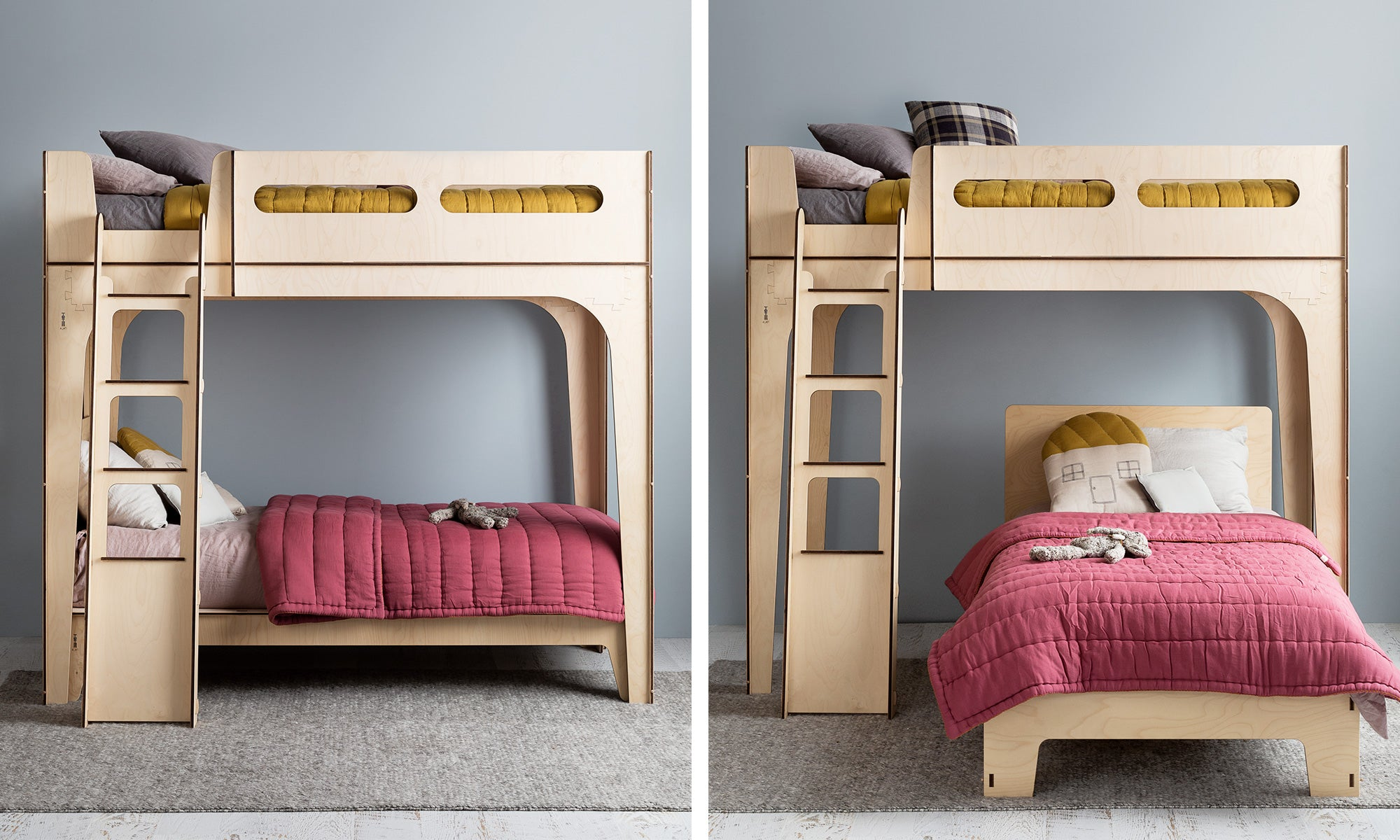 Picture of: Small Space Living With Modern Bunk Beds And Loft Beds Plyroom