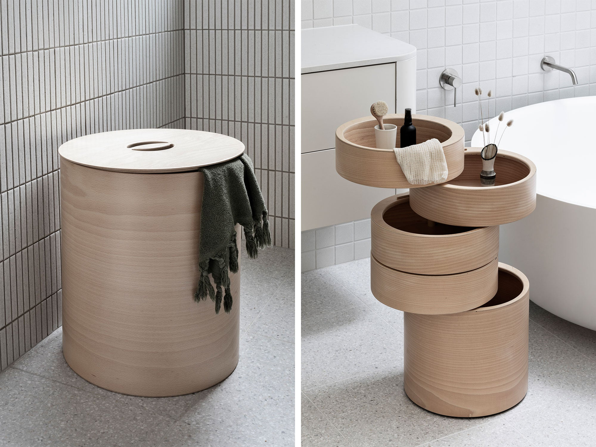 Minimalist Furniture Design and Modern Bathroom Storage