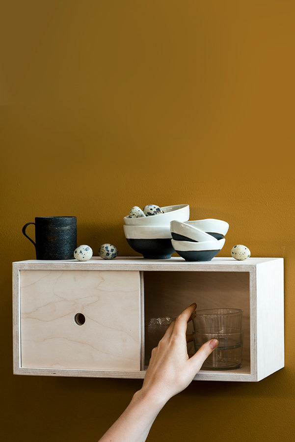 Little Nest Cabinet with new Broste Esrum Nested Bowls