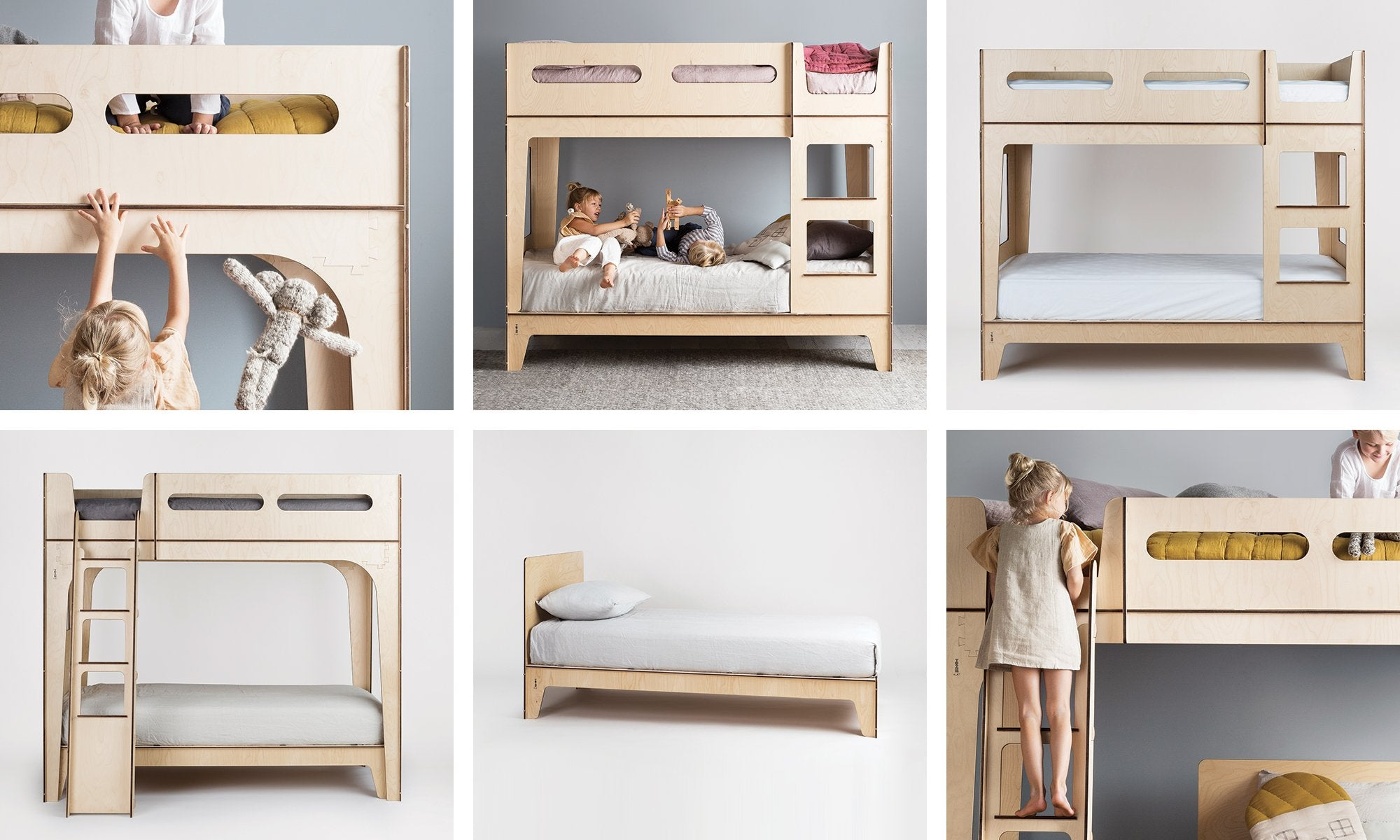 Image of a modern children's bedroom furniture for shared bedrooms
